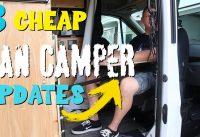 MTB Plan B - Three of the cheapest Van Camper updates ever!