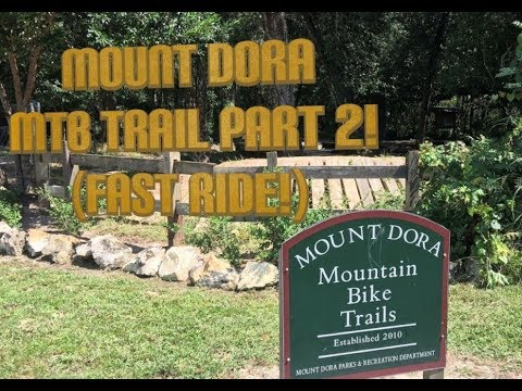 Mount Dora Mountain Bike Park Part 2 (Mount Dora, Florida) Fast Ride!