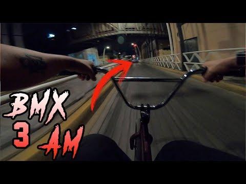 PEDALEANDO A TODA VELOCIDAD A LAS 3:AM EN BMX - Andar en Bicicleta de Madrugada es Peligroso?