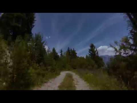 Pila Gressan panoramica  Scott Genius E-Bike GoPro Feiyu WG2 su manubrio (: