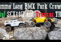 SCX10 II and TRX4 hit up Emma Long Dirt Bike park