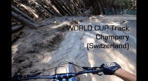 Training Champery World Cup Track - full GoPro Run