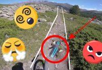 le lievre piste VTT DH full RUN (downhill bike)//(demo 8) MON GARDE-BOUE CE CASSE // VTT DESCENTE !!