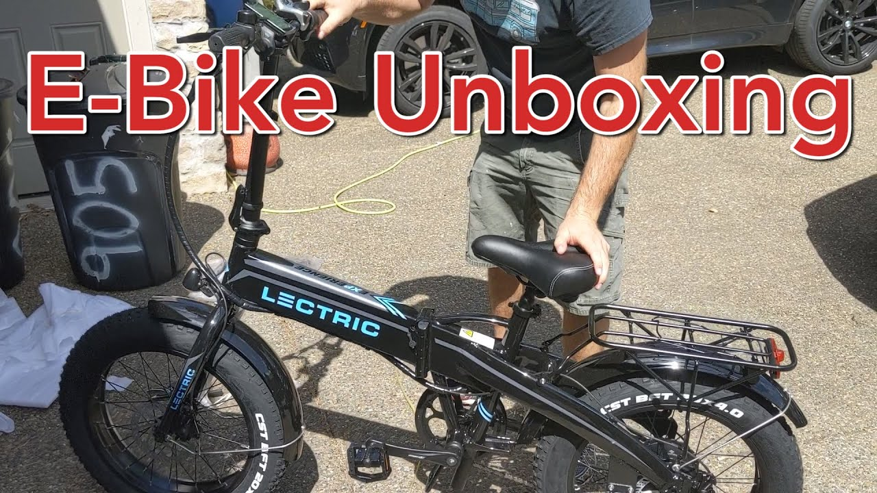 28 MPH Lectric XP Folding Electric Bike- Unboxing and Test Ride