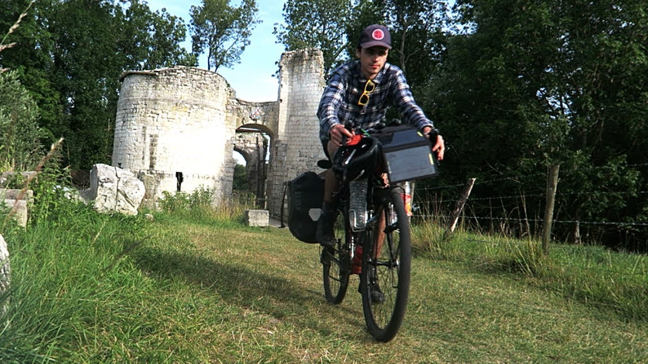 Bicycle Touring France Prt 3 - Castle Ruins! French Flea Market! Wild Camping!