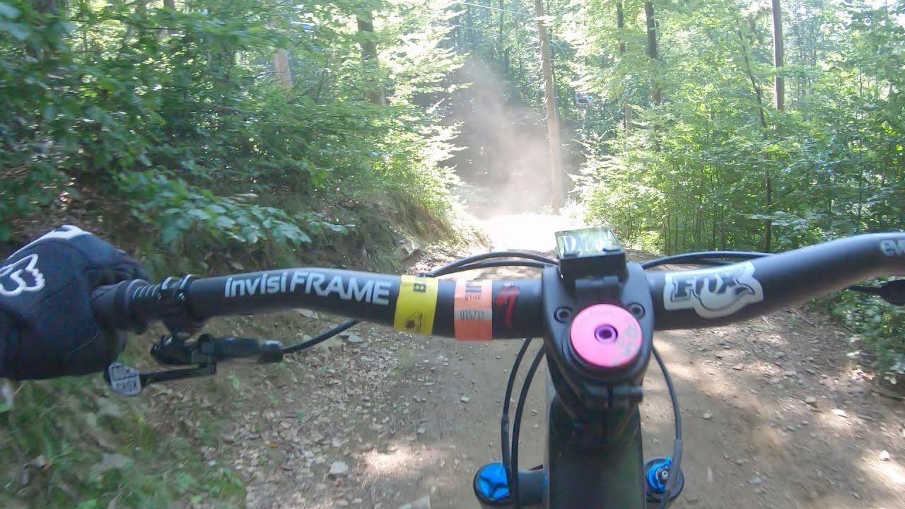 """Bikepark preview - Kouty - red trail (dh) """"Bears / Old Bear"""" (Medvedí / Stará Medvedice)"""