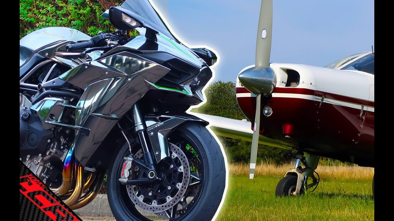 Bikes VS Plane | Which is quicker, Ninja H2 Or An Aeroplane?