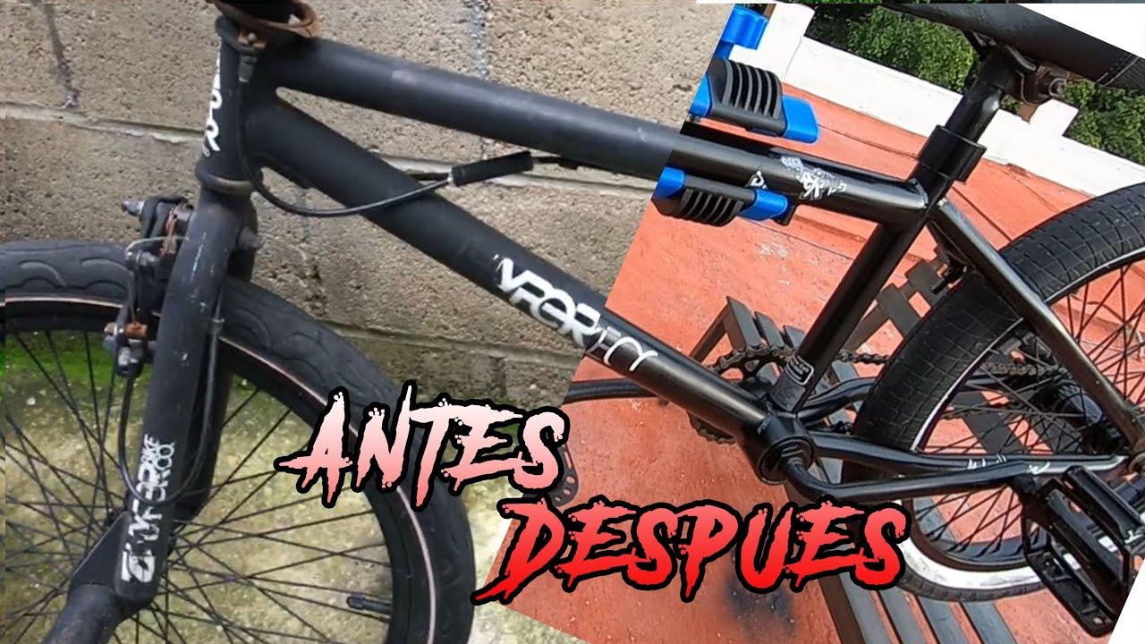 CÓMO RESTAURAR UNA BMX VIEJA CON POCO DINERO 💵 - Servicio Completo Para Cualquier Tipo de Bicicleta