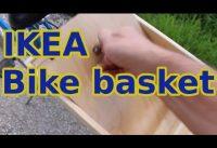 IKEA bike basket with hidden floor