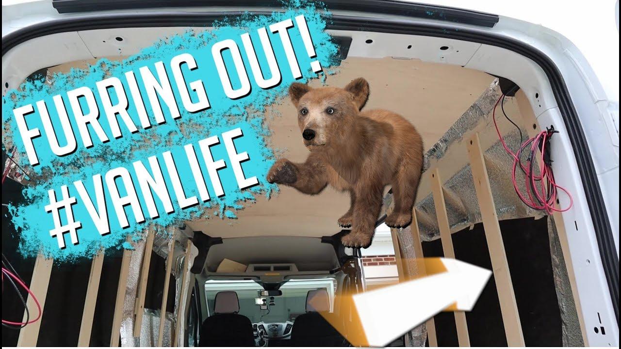 MTB Plan B - Not Van life...Finally furring out the van!