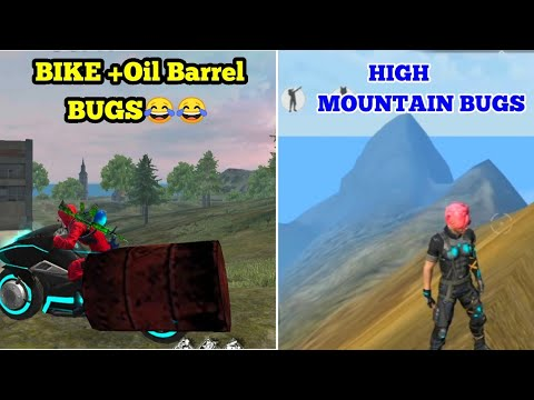 New Best Bike + Oil Barrel  BUGS And High Mountain Bugs in free fire tricks tamil || Auto Booyah