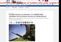 news in France murder of 4 mountain bikers because of the hunter