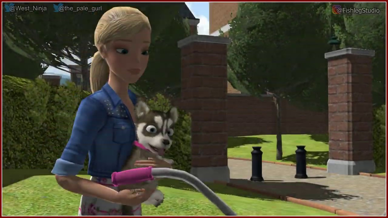 Barbie and her Sisters: Puppy Rescue - Extreme Off-road BMX Barbie and Football  - Play Together