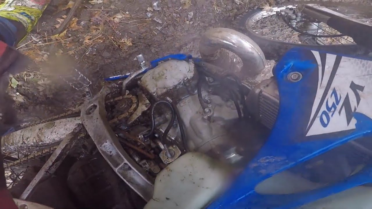 I Broke My Yz 250 Dirtbike (Technical Trail Riding and Broken Bike)