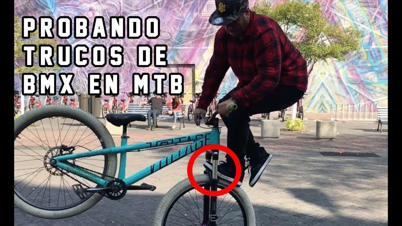 TRUCOS DE BMX EN MTB?  Es más Difícil de lo que Pensé 😨