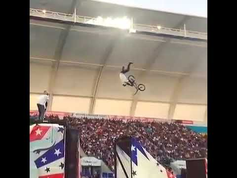 The World's First Double Grab Frontflip on BMX