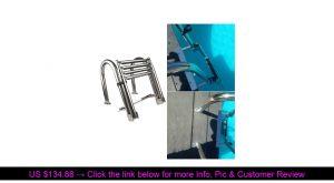⭐️ 4 Steps Marine Boat Ladder Stainless Steel Yacht Swimming Folding Board Ladder Stainless Steel B