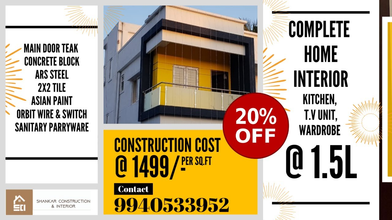 Construction & Interior price in Chennai