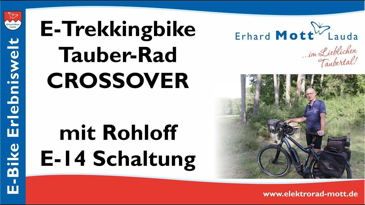 E-Trekkingbike Tauber-Rad CROSSOVER mit Rohloff E-14 Schaltung   E-Bike Erlebniswelt Erhard Mott