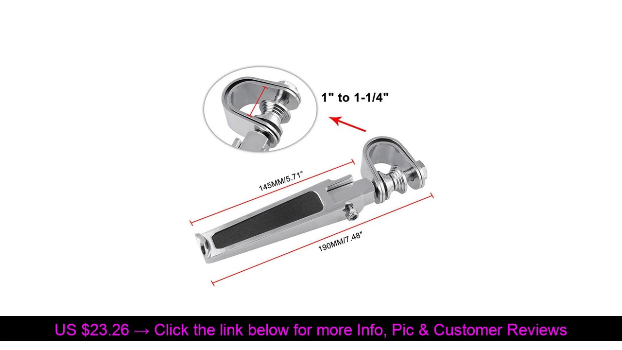 ☄️ Motorcycle Modified Folding Engine Bumper Bar U-shaped Foot Pegs Chrome Motorcycle Highway Engin