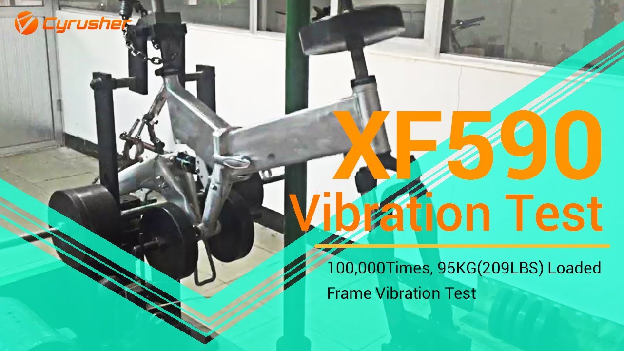 100,000 Times 95KG Loaded Anti-aging and Vibration Test for Cyrusher XF590