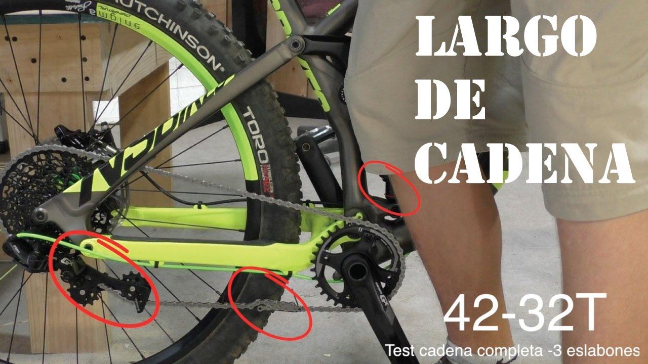 Ajustar el Largo de Cadena en una Bicicleta Doble Suspensión! Mountain Bike Bike Chain Length! (cc)