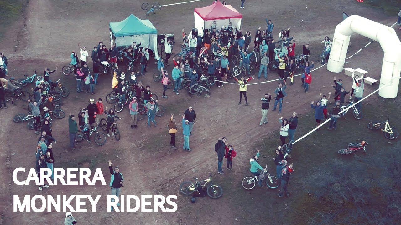 Carrera de Mountain Bike Downhill con el Monkey Riders Team en Las Viñas!
