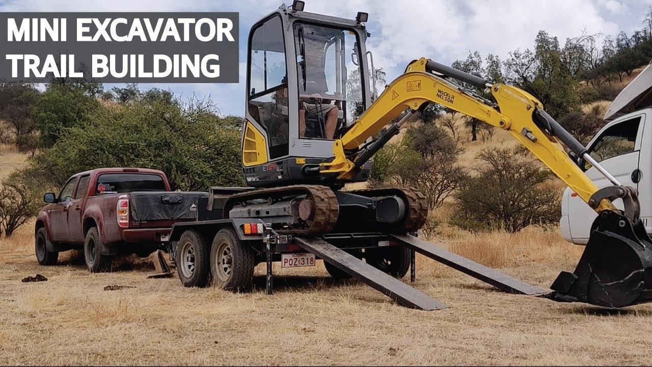 Construyendo Senderos de Mountain Bike! Trail Building con la Nueva Mini Excavadora!!