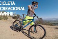 Downhill y Saltos con una Bicicleta de Mountain Bike para Principiantes! DH Recreacional!