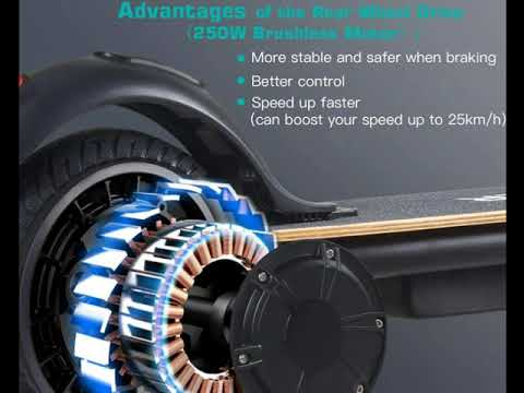 MEGAWHEELS S10 Electric Scooter Commute to Work or Ride for Fun, 7500 mAh Long Range Battery