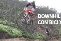 Mountain Bike Downhill con Bicicleta de Cross Country! Bicicleta Scott Doble Suspensión de XC!