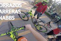 Mountain Bike Downhill y Caídas! Carrera de Bicicletas en el Cerro San Cristóbal! #fuerzaguga !!