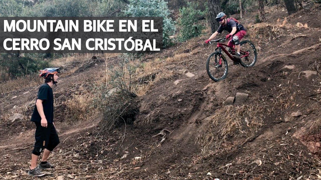 Mountain Bike Enduro con Platos Ovalados! Saltos, Curvas y Caídas en el Cerro San Cristóbal!