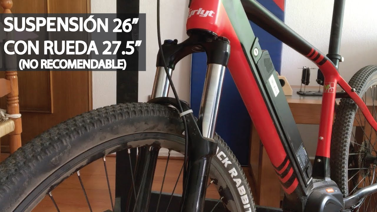"Mountain Bike Enduro en una Bicicleta Eléctrica Modificada! Suspensión 26"" con Rueda 27.5""!"