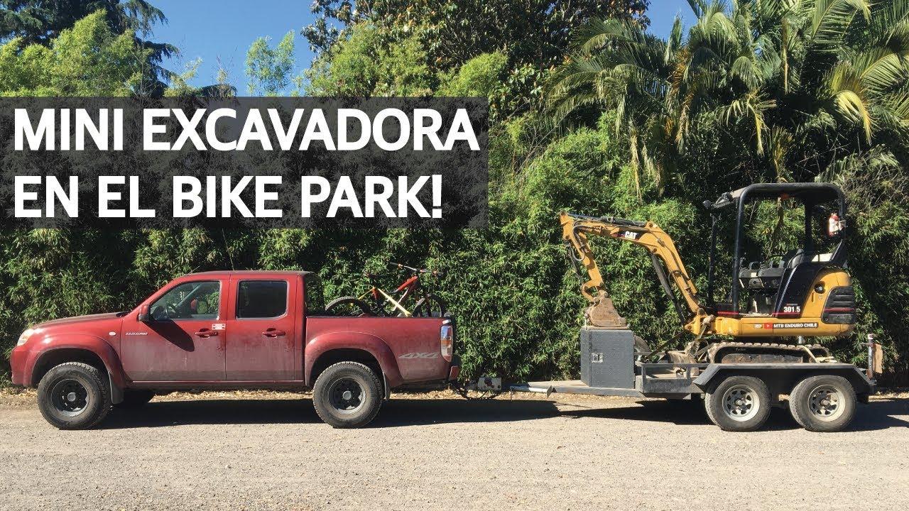 Mountain Bike Trail Building, Tests de Senderos y Mecánica con la Mini Excavadora!