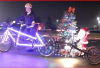 Polar Express Tandem Bike + Christmas Lights & Music = Decorated Bike | #TANDEMADVENTURERS