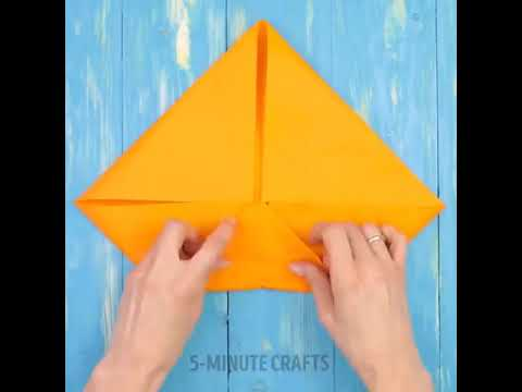 1 MINUTE CRAFTS NAPKIN FOLDING TRICKS HOW TO FOLD A NAPKIN INTO A CROWN ROSE NAPKIN FOLDING