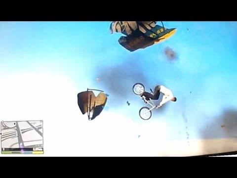 GTA5 -  BMX Skydive mit Herodes und Robin - ein Heidengaudi!