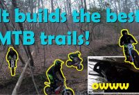 MTB Plan B - Building an epic mountain bike trail with an electric motorcycle.