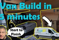 MTB Plan B - Mountain Bikers first ever DIY Van build a-z in 5 minutes