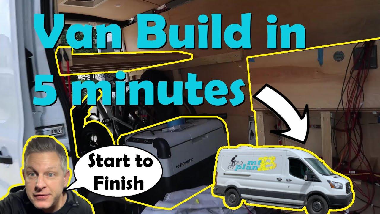 MTB Plan B - Mountain Bikers first ever DIY Van build a-z in 5 minutes