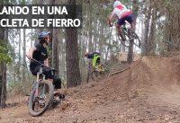 Mountain Bike Downhill a Fondo y Sin Excusas! Bicicleta para Principiantes Volando en los Saltos!