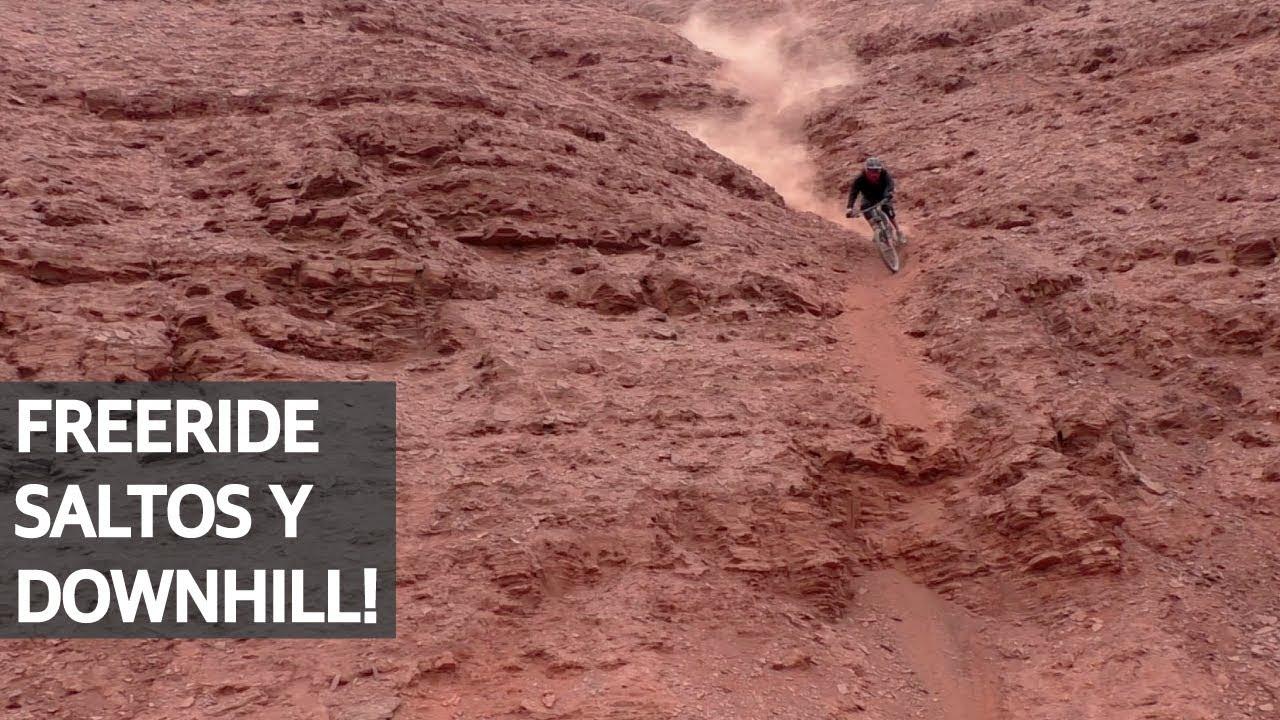 Mountain Bike Freeride! Bajando Líneas y Saltos con la Polygon Xquarone en Antofagasta, Chile!
