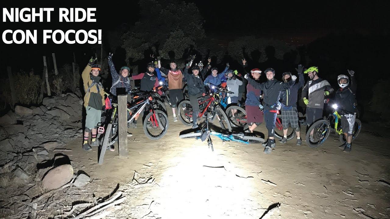Mountain Bike Night Ride en el Manquehue! Enduro en Bicicletas de Noche con Luces Muy Potentes!