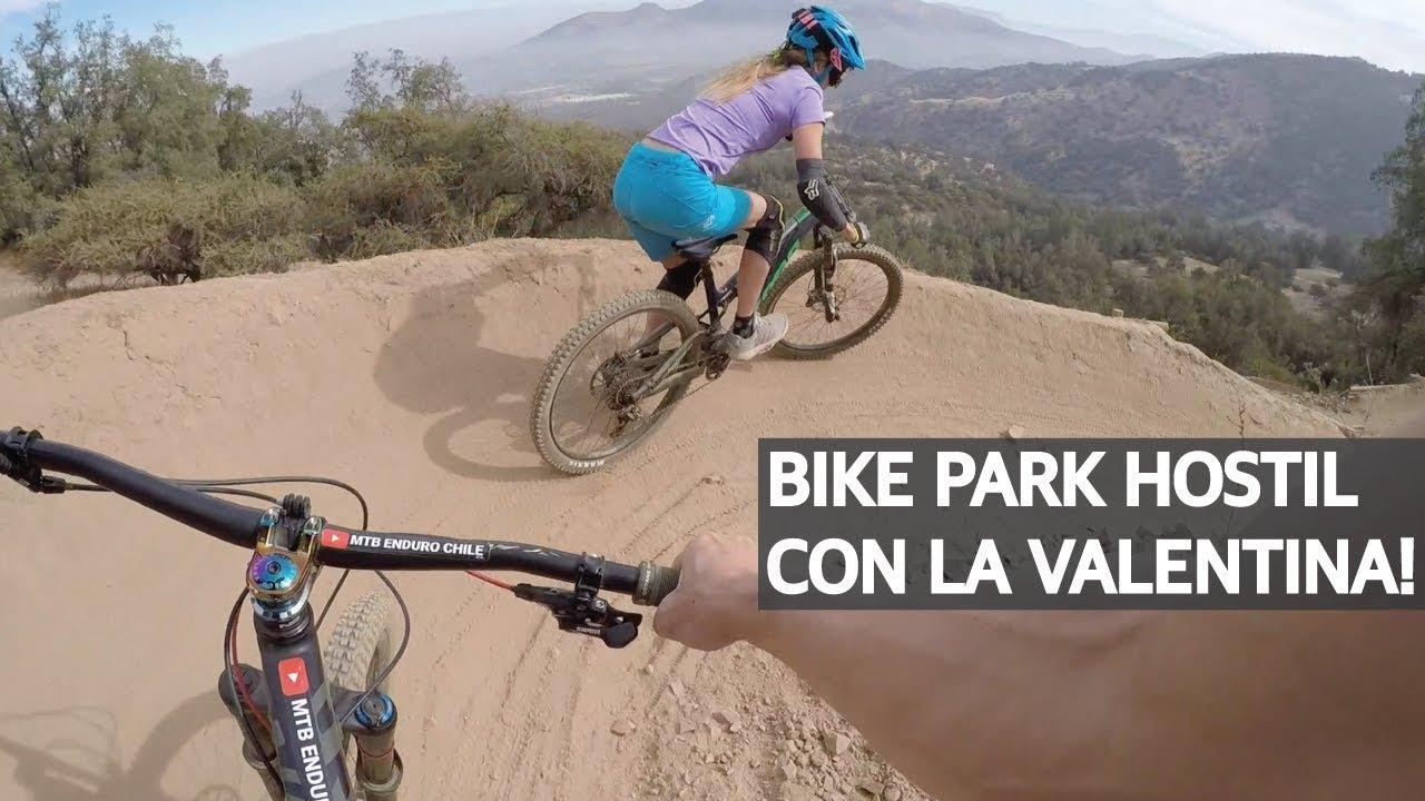Mountain Bike con Terreno Seco en el Bike Park El Durazno! Hoyos y Rocas con la Valentina!
