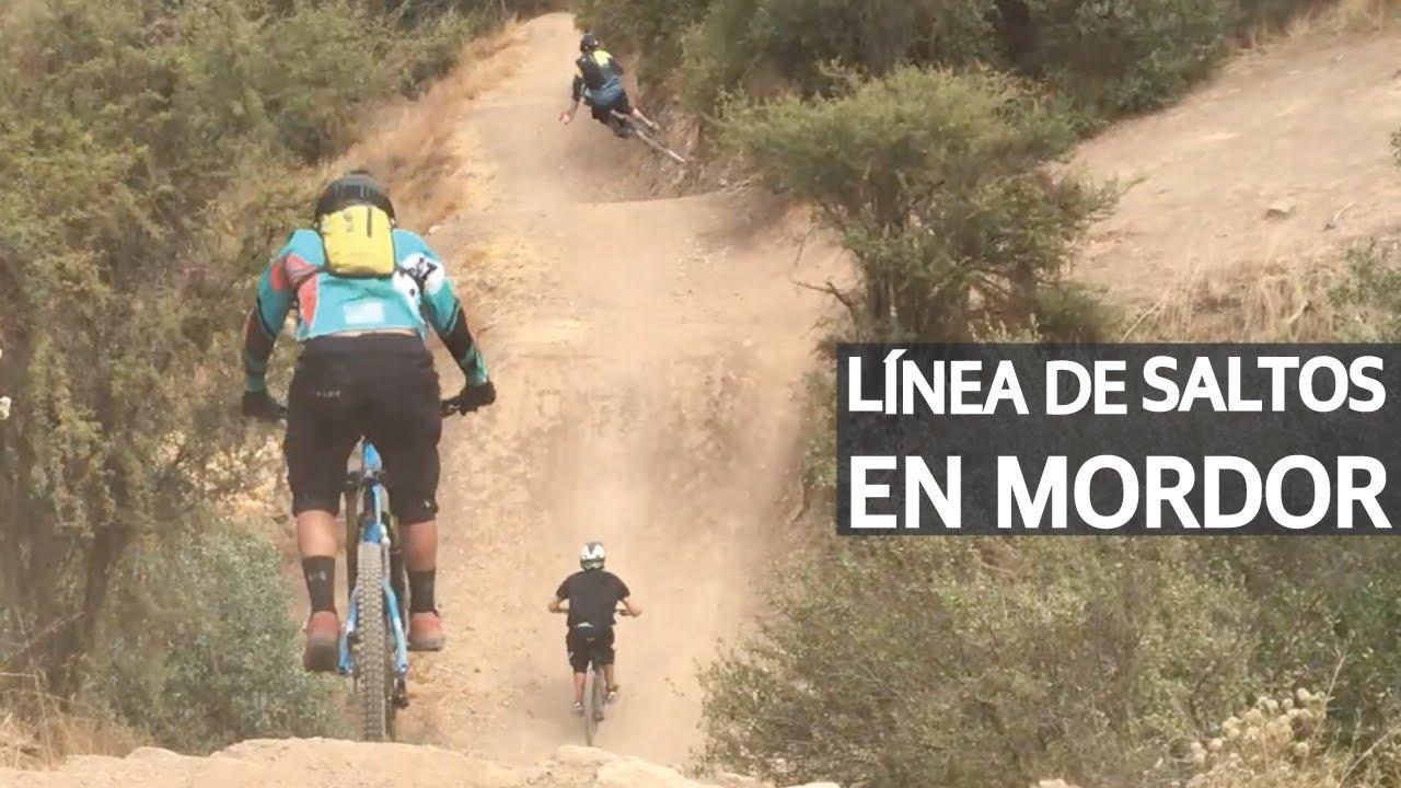 Practicando Saltos de Mountain Bike en el Bike Park El Durazno! Bicicletas Volando en Mordor!