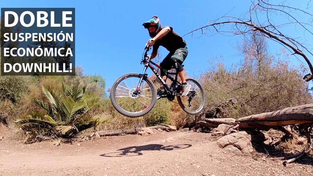 Probando una Bicicleta Doble Suspensión Económica para Mountain Bike!