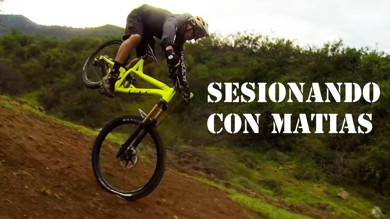 Sesionando Saltos de Mountain Bike con Matías!