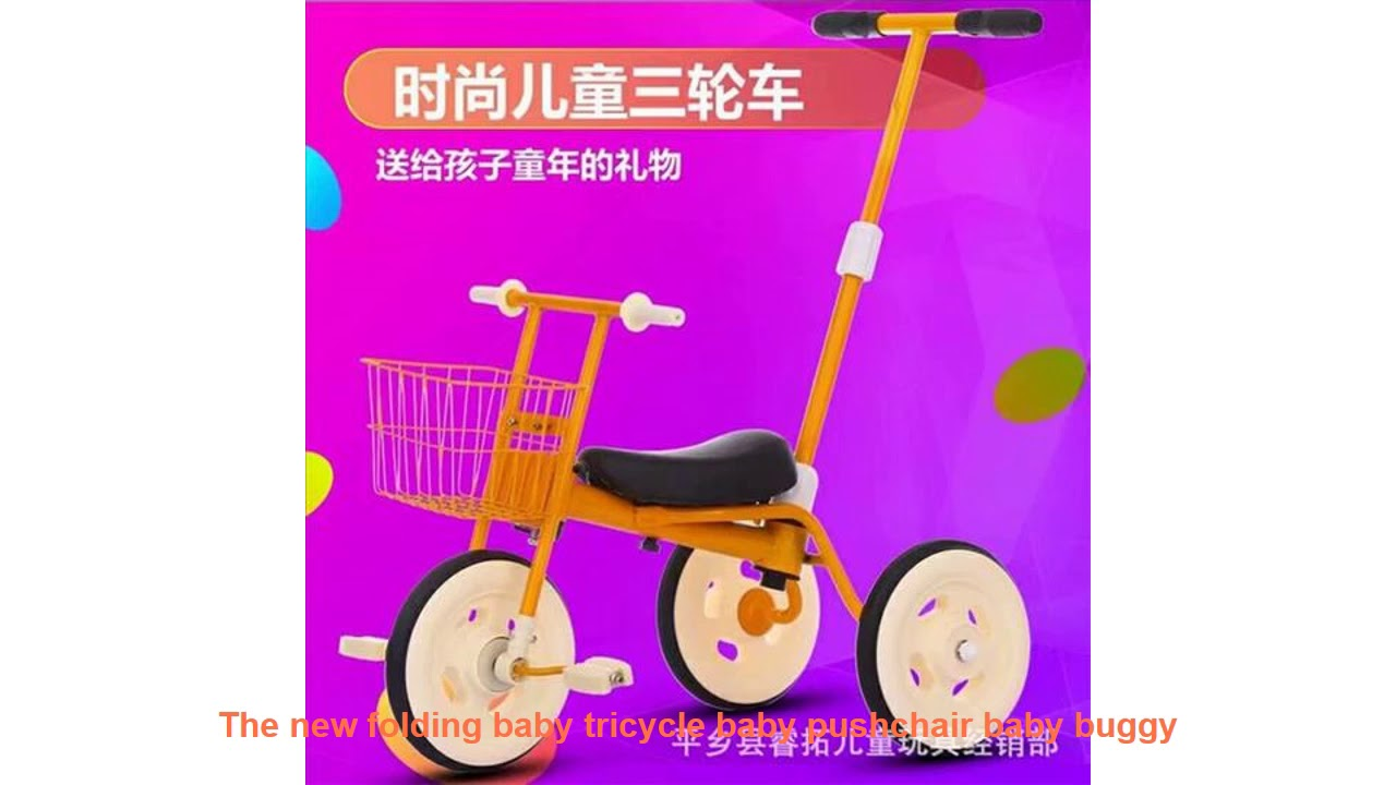 The new folding baby tricycle baby pushchair baby buggy