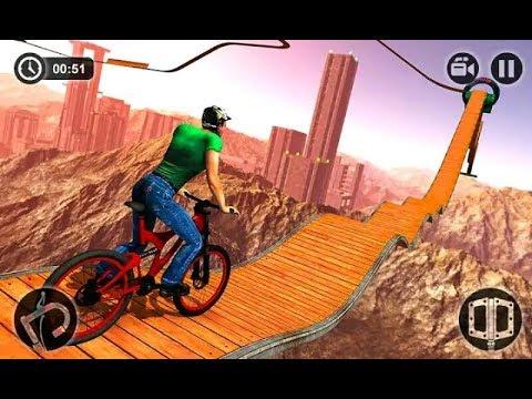 review game sepeda dengan rintangan tersulit Mustahil Sepeda BMX Stunts